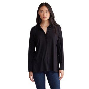 NWT Eileen Fisher Easy Jersey Classic Collar Shirt